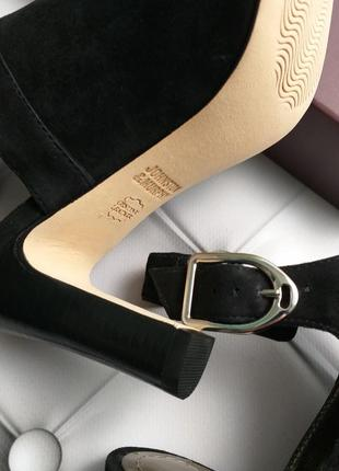 Johnston & murphy оригинал черные замшевые босоножки на широком каблуке бренд из сша6 фото