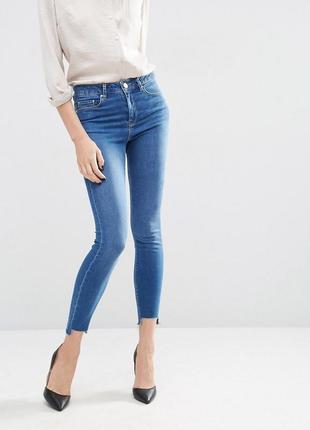 Женские джинсы скини skinny от asos синие как новые xs-s