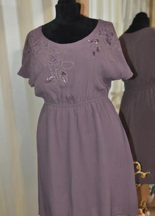 Красивое летнее платье свободного кроя размер 14/42 moonsoon