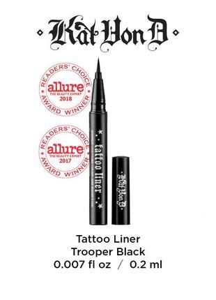 Подводка для глаз kat von d tattoo liner in trooper black 0.2 мл