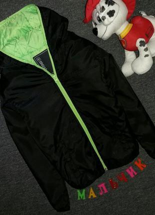 Куртка на тонком слое синтепона 6-7 лет, рост 122 см