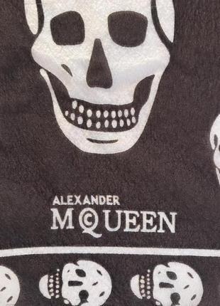 Платок шёлковый большой шарф дорогой бренд mcqueen
