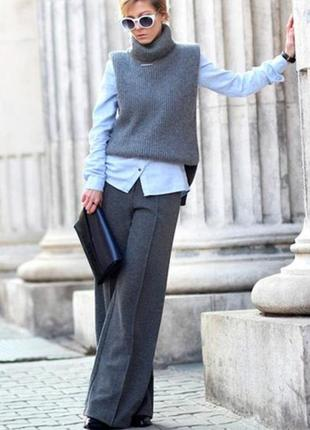 Классические свободные от бедра брюки штаны средней посадки