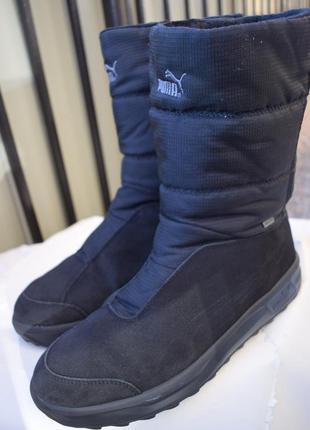 Зимние сапоги ботинки пума puma gore tex р.45 29-29,5 замш термоботинки
