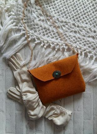 Сумка сумочка из фетра (клатч)
