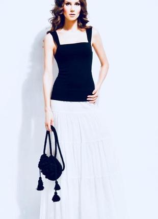 Белая длинная юбка в пол naturalline