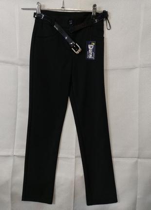 Фирменные классические брюки с ремешком