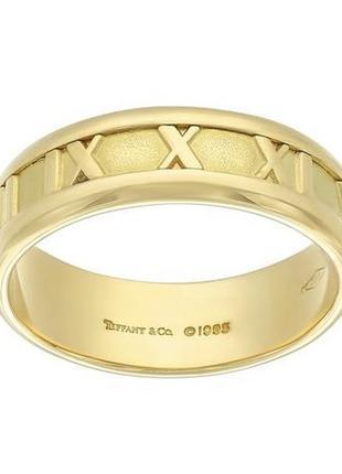 Tiffany коллекция atlas™ кольцо золото *750 проба💍оригинальность предмета гарантирована!