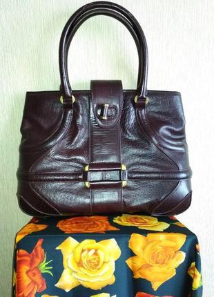 Винтажная дизайнерская брендовая сумка