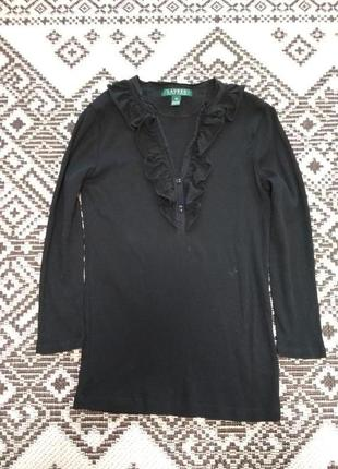 Отличный хлопковый лонгслив блуза с рукавами 3/4 от  ralph lauren, p. s