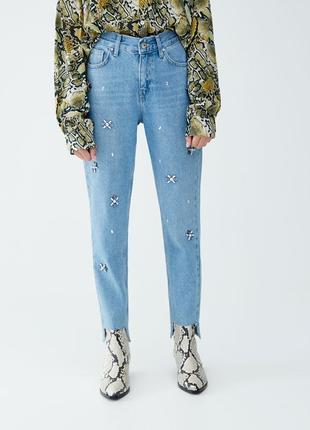 Нереально крутые плотные мом-джинсы от pull&bear  - европ. 36 или 8 - можно на 8, 10