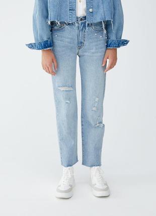 Крутые плотные мом-джинсы от pull&bear - европ. 42 или 14