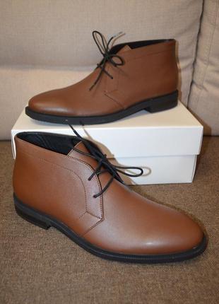 Кожаные ботинки лоферы calvin klein cam