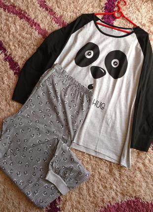 Классная пижама с пандой из био хлопка от ellen amber (германия) xxl