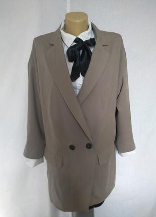 Стильный пиджак жакет, удлиненный, карманы zara