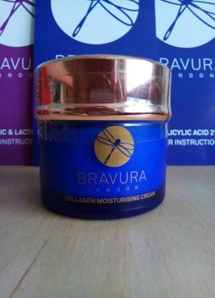 Увлажняющий и питательный крем для нормальной и сухой кожи, bravura london collagen