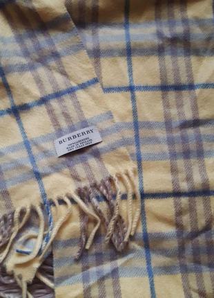 Шарф платок burberry оригинал кашемировый,кашемировый шарф платок желтый серый