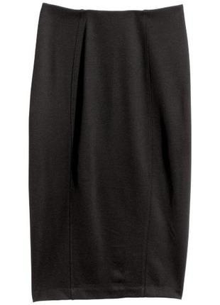 H&m трикотажная юбка - карандаш, м2 фото