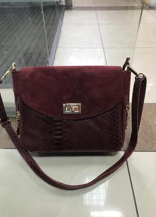 Кожаная сумка сумка кожаная змеиная кожа