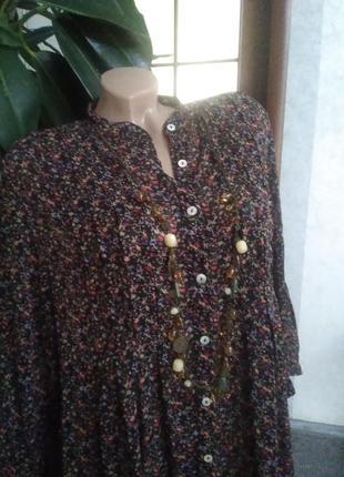Симпатичная блузочка, большого размера.