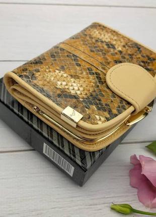 Женский кожаный кошелек - ракушка для маленькой сумочки.