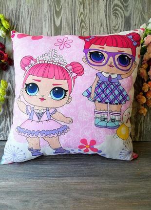 Подушка куклы лол балерина и школьница , 40см * 40 см