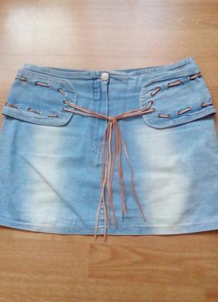 Юбочка летняя джинсовая