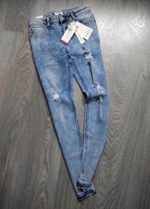 16л крутые рваные джинсы d-xel