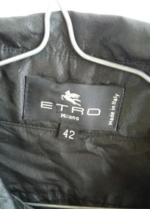 Стильная шёлковая  рубашка etro6 фото