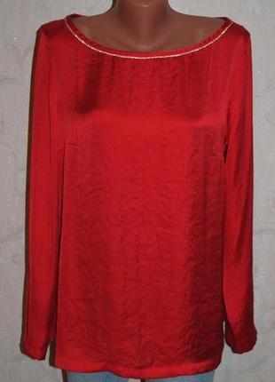 """Блуза из плотного шифона декорированная стразами """"next"""""""