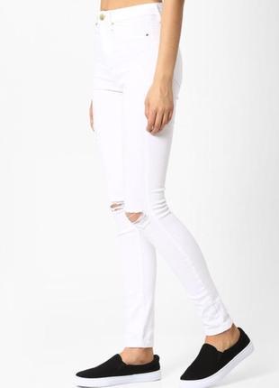 Стильные белые штаны джинсы tally weijl