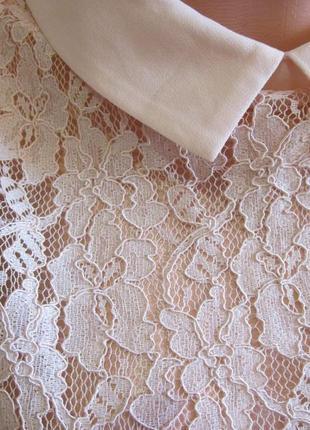 Блузка короткая цвет персика р10 new look