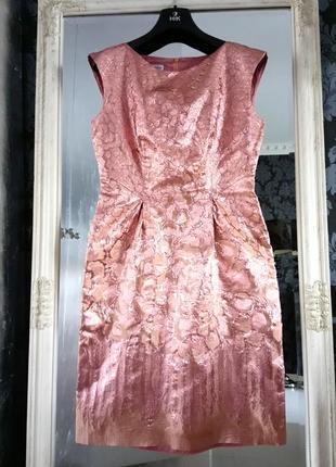 Alberta ferretti оригинал платье цвета розового золота новое состояние блеск valentino