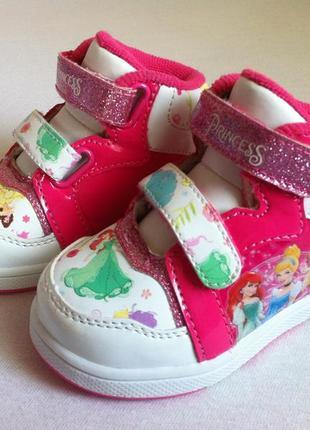 """Стильные кроссовки сникерсы, хай-топы disney """"princess """" 👟 размер 20,5 оригинал !!!"""
