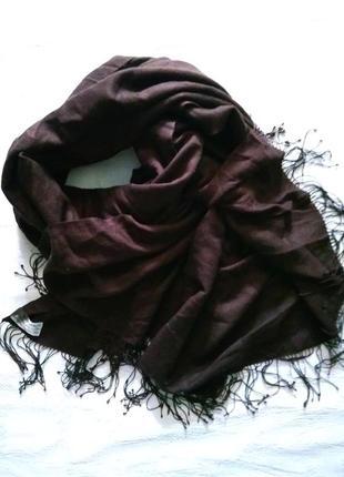 Pashmina шикарный очень большой шарф - палантин, шоколадного цвета