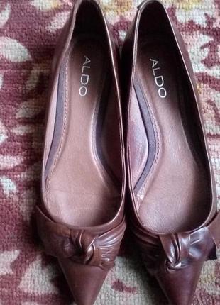 Aldo кожаные туфли лодочки,рр.37-37,5.