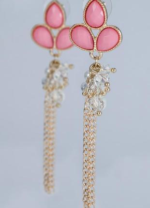 Нежные серьги-висюльки honey fashion accessories из позолоченной меди