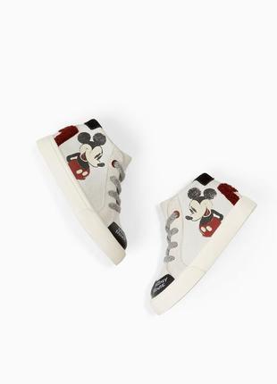 Демисезонные ботиночки (ботинки кеды кроссовки) zara disney baby размер 24