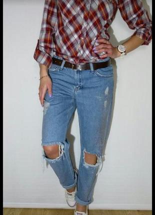 Классные джинсы с радужным напылением от denim co1