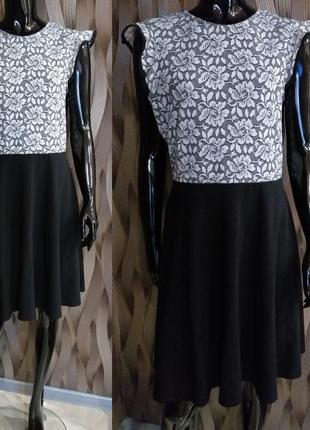 -50% на вторую вещь платье с гипюром на груди от dorothy perkins uk 14 наш 481 фото
