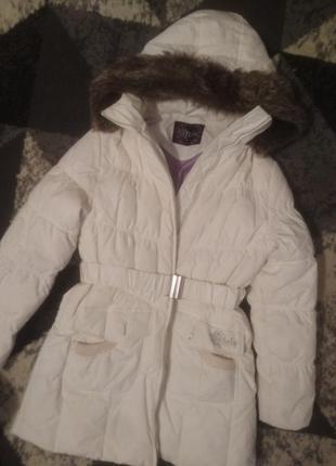 Пуховое деми пальто