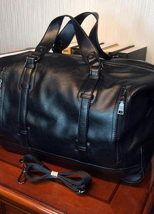 Мужская дорожная сумка. сумка для поездок, командировок черная ксд3