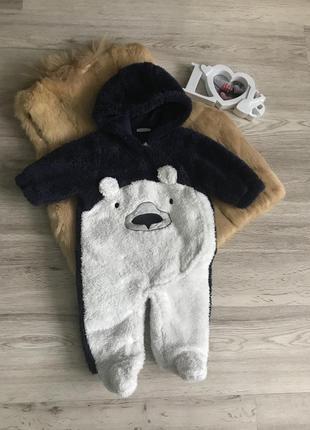 Демі комбінезон ведмедик next, 3-6міс./ деми комбинезон мишка
