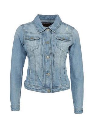 Стильный светлый джинсовый жакет пиджак куртка