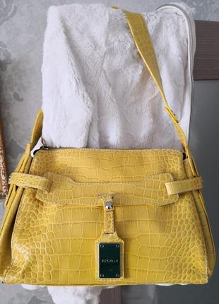 Мега стильная кожаная сумочка nicoli