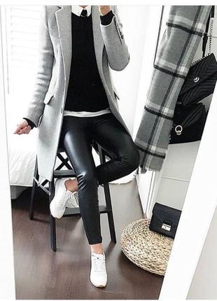 Стильные брюки h&m под кожу
