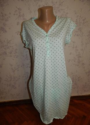 Matalan ночнушка трикотажная, домашнее платьеце р8-10 можно для кормления
