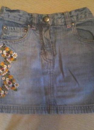 Фирменная джинсовая юбка h&m 92 рост