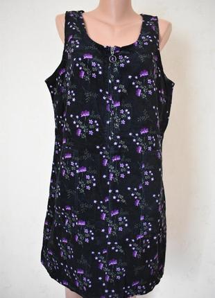 Новое вельветовое платье с принтом tu
