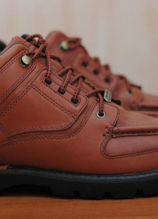 Кожаные коричневые ботинки rockport xcs waterproof. 43 размер. оригинал